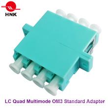 LC Quad Multimode Om3 Стандартный пластиковый оптоволоконный адаптер