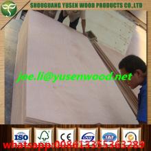 Madera contrachapada del grado del embalaje de la base del álamo, madera contrachapada comercial