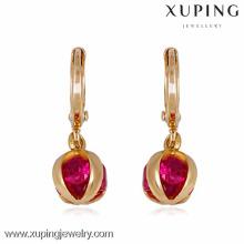 22237 Xuping earrings for women, jewelry gold earrings women