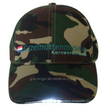 6 Panels Cotton Twill Army Hat with LED Lights and Coin Battery