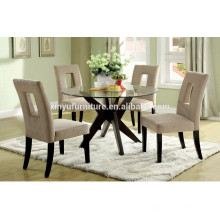 Glass top dining table and wooden dining chair XYN1503