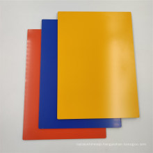 Yellow A2 Building Wall Plastic Cladding Aluminum Composite Material Panels