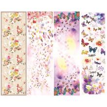 Women Fashion Digital Printing Silk Scarf (C-030)