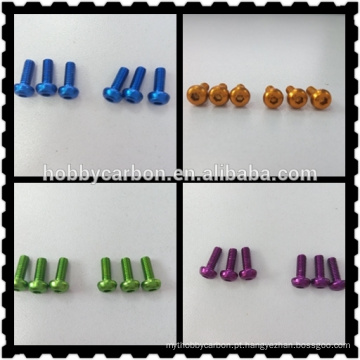 Anodizado colorido alumínio redondo cabeça parafuso para RC brinquedos / zangão / helicóptero fabricação preço de máquinas