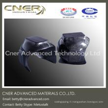 Casque de sécurité haute résistance en fibre de carbone, fait sur mesure, pièce en fibre de carbone