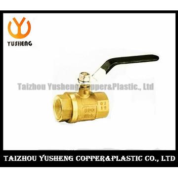 Латунный шаровой Клапан алюминиевая ручка (YS1001)