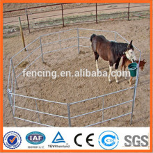 Galvanized livestock metal corral fence panels use horses