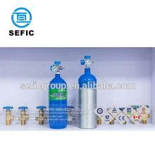 Type size M9 MD ME medical aluminum oxygen cylinder 2.82L 4.64L Sweden and UK market
