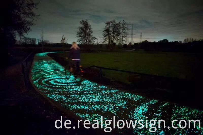 glow in the dark gravel road