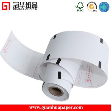 Rolo de papel térmico impresso com design personalizado