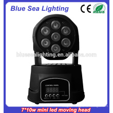 7x10w rgbw 4in1Led Mini moving head light stage light