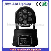7x10w rgbw 4in1Led Mini luz de cena movente da luz da cabeça