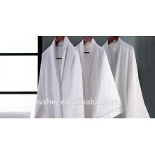 Top selling poly cotton kimono bathrobe waffle weave