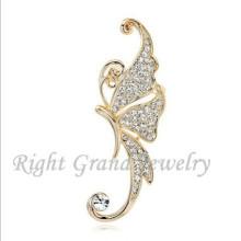 2015 Cheap Ear Cuff Crystal Butterfly Ear Cuff Wrap Clip Earring