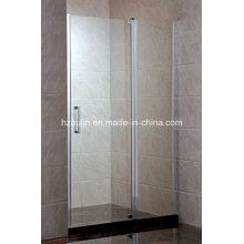 Bi-Fold ducha de vidrio templado pantalla