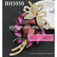 Broches en bijoux en cristal de costume