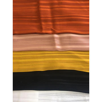 100% polyester mousseline rayure ombre