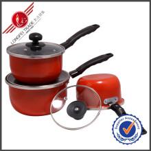 3 PCS Sauce Pan Utensílios De Cozinha Esmalte Cookware Set