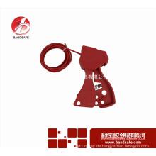 Wenzhou BAODI BDS-L8601Lockout Tagout Red Sicherheitsverriegelung Einstellbare Kabelsperre