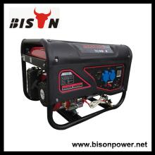 Bison China Zhejiang 3KW 6.5HP motor de gasolina portátil generador de electricidad generador de sistema