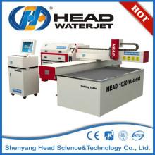 1000mm * 2000mm pequeña máquina de corte de cristal del jet de agua