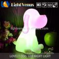 Cão em forma de Animal luz à noite para crianças mesa noite lâmpada cor mudar decoração quarto