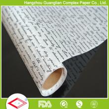 Revêtement de silicone disponible Papier d'emballage alimentaire ignifuge
