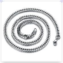 Cadena de acero inoxidable del collar de la joyería de la manera (SH066)