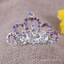 Kinder Lovely Crown Strass Tiara Kamm