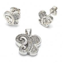 Pendiente de plata de la mariposa 925 y sistema pendiente de la joyería al por mayor