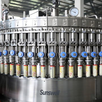 Fully automatic Long service life can juice filling machine packing line
