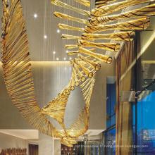Nouveau design de lustre en verre de luxe