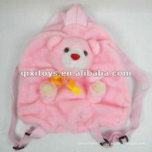 belle peluche ours en peluche sac à dos rose pour les enfants