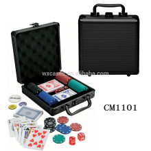 luxury rounded corner 100 aluminum poker chip case