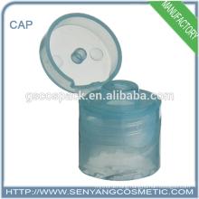 hot sale plastic flip top cap adhesive screw caps