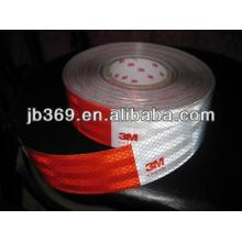 cintas reflectantes de camión para vehículos etiqueta blanca y roja