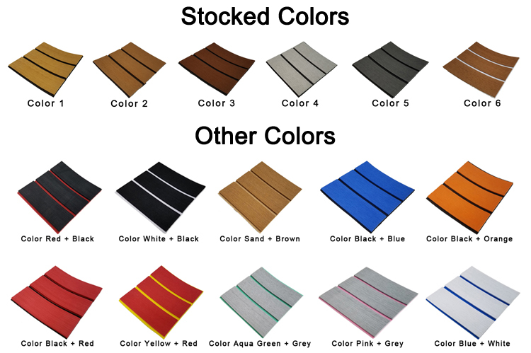 Teak Decking Sheet color