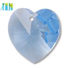 Coração Multicolor forma pingente de cristal, solta coração de pêssego de vidro pingente de cristal tamanho 14mm vendas a granel
