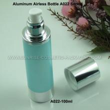 Flacon de 100ml en aluminium sérique Airless presse