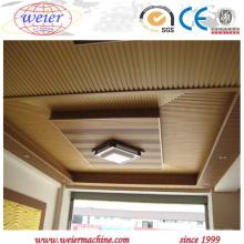 Extrusora de único parafuso a rendimento elevado para a fabricação do Decking do PVC de WPC