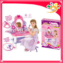 kids cosmetics set toys platform with light and musical