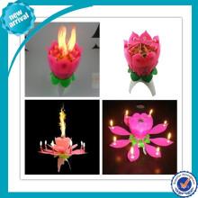 Рекламный пение открытие цветок день рождения свеча