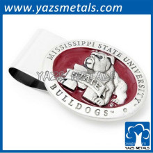 3D grabado en relieve logotipo de acero grabado clip de dinero