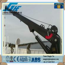 Grue de pont marine télescopique hydraulique à piédestal hydraulique