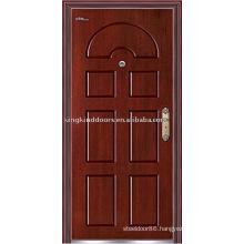 High Quality Steel Wooden Armored Door (JKD-215) Steel Door Frame Door Security System