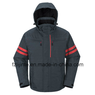 Winter Industrial Workwear Safety Jacket with Relfective Tapes