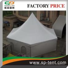 Sechseckiges Zelt mit PVC-Fenstern für Hochzeitsfeiern im Freien