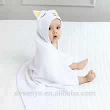 Serviette de bain en bambou 100% biologique de haute qualité pour bébé Serviette de bain pour bébé garçon et fille de qualité supérieure - Chat endormi