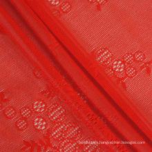 82 polyamide 18 elastane jacquard lace mesh fabric for wedding dress
