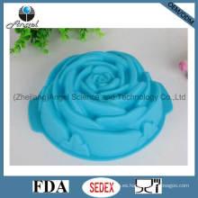 Big Rose flor silicona pastel molde de silicona Cake Pan Sc08